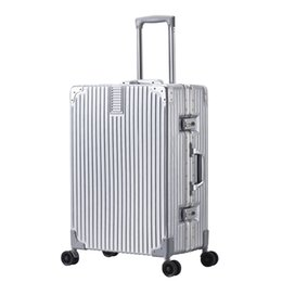 bolso de viaje trolley mujer Rebajas Creative Rolling Luggage Spinner Suitcase Wheels Hombres Trolley Women Travel bag On Wheel 20 pulgadas Cabina Password Trunk
