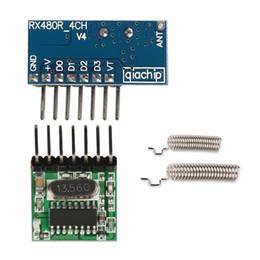 interruttore remoto a 12v Sconti Modulo ricevitore trasmettitore wireless Superheterodyne RF 433 Mhz con interruttore telecomando antenna per kit Zdu Arduino uno