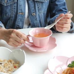 Plato de Cerámica Japonés de Sakura Rosa / Blanco / Azul Cereza Hueso Plato de Cena de China Merienda Frutas Frutos Secos Bandeja Ensalada Tazón Creativa Vajilla desde fabricantes