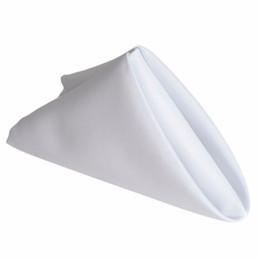 """Envío gratis 100 UNIDS 40 cm * 40 cm 16 """"* 16"""" Llanura Servilleta de poliéster de poliéster blanco para restaurante Catering Hotel desde fabricantes"""