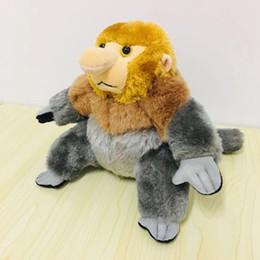 boné preto laranja Desconto Boneca De Pelúcia Macaco Nariz Mascote Brinquedo De Pelúcia de Natal Presentes de Ano Novo