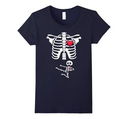 Venta caliente marca nueva moda verano hombres marca ropa verano Tops Hip Hop maternidad bebé Karate esqueleto Halloween camiseta desde fabricantes