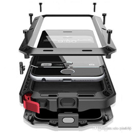 shopitem di alta qualità di Marca Impermeabile Dropproof Contro Lo Sporco Antiurto Cassa Del Telefono per il iPhone 4 4 S 5 5 S 5c 6 6 s 4.7 Plus Copertura Posteriore Del Metallo da