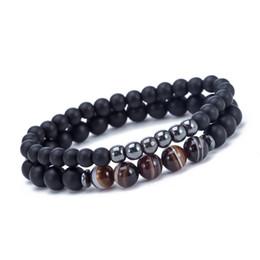 mens perlé Promotion Unisexe Elatic Bead Bracelet Perlé Noir Mantra Prière Perles Bouddha Bracelet pour Femmes et Hommes Pulseras Masculina Valentines Cadeau