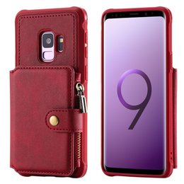 a6415764dd6 wholesale PU Leather Case For Samsung S8 S9 Note 8 Card Holder Zipper Wallet  Case for Samsung S8 S9 Plus Flip Cover Coque Capa