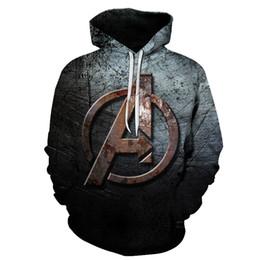 Vendicatori di felpe online-The Avengers 4 Spiderman Marvel 3D Stampa Felpe con cappuccio da donna Uomo Tasche Felpe Tute Pullover Top Dropship