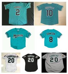 2019 camiseta cabrera Custom Marlins Jerseys Dawson SHEFFIELD Giancarlo Stanton Florida Miguel Cabrera Dontrelle Willis 2 Béisbol de Hanley Ramirez Jersey S-XXXL rebajas camiseta cabrera