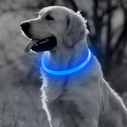 2019 colar de diamante rosa Carregamento USB LED Collar Dog Brilhante Luz Cuttable Collar Para Cães Gatos Filhotes de Cachorro Legal Suprimentos Do Gato Suprimentos Do Gato Produtos Frete Grátis