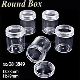 Canada 38x49MM bouteilles en acrylique avec bouchon à vis boîtes rondes de stockage pour DIY Nail Art Accessoire Bijoux perles Artisanat conteneur cas cheap acrylic bead caps Offre