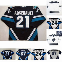 2019 trikot nummer 21 Rimouski Oceanic 87 Sidney Crosby 24 Gabriel Balasescu 21 Benoit Arsenault Mens Womens Youth cusotm beliebiger Name Jede beliebige Anzahl Hockey-Jersey günstig trikot nummer 21