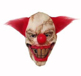 máscaras de palhaço assustador Desconto Halloween Toothy Realistic Creepy Horrível Palhaço Palhaço Máscara Trajes Cosplay Masquerade festival Suprimentos Festa Adereços máscaras de máscaras