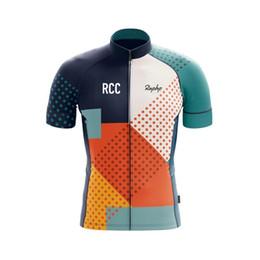 Roupas de ciclismo branco on-line-2019 Ciclo Ropa ciclismo Pro equipe de manga curta Jersey Verão azul branco bicicleta de estrada equitação roupas Respirável Equipe rcc raphp camisa de ciclismo