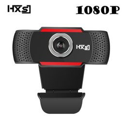 computer resolutions Promo Codes - HXSJ USB Web Camera 1080P HD 2MP Computer Camera Webcams Built-In Sound-absorbing Microphone 1920 *1080 Dynamic Resolution