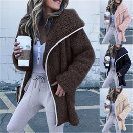 14cc0165fc5 Women Winter Casual Fluffy Bear Ear Hoodie Hooded Jacket Warm Outerwear Coat