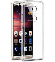 coperture del telefono cellulare di zte Sconti Per ZTE AXON Skyscraper 7 / A23 / V78max Custodie per telefoni cellulari Trans parent Soft Shell Full Cover Nave libera
