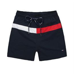 Maiôs de quadril on-line-HOT 2019 Atacado-Quick Dry Mens Praia Shorts Marca Mens Shorts Casual Swimwear Maiôs Shorts Dos Homens Hip Hop Mens Bermuda