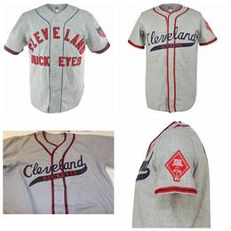 Número de beisebol on-line-Personalizado Cleveland Buckeyes Baseball Jersey Homens Mulheres Jovens Qualquer Nome E Número Frete Grátis Tamanho S-4XL