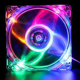 Canada 1 PCS 80mm refroidissement par ordinateur Pc DC 12V 8cm ventilateur de boîtier Halo LED AURA RVB 4pin PWM Costume silencieux pour CPU Cooler supplier dc pc fan Offre