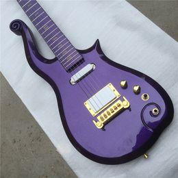 Chitarre viola online-Free Shippinghot popolare vendita sh pickup wrapwind bridge viola principe set nel collo chitarra elettrica Guitarra