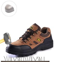 Großhandel Unzerstörbare Schuhe Herren Stahlnasen Sicherheit