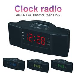 Horloge de bureau numérique à DEL EDAL ABS 2 en 1 avec radio-réveil FM AM (EU Plug 220V) ? partir de fabricateur