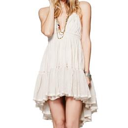 Vestido de praia strapless para mulheres on-line-Mulheres Bohemian Mini Vestido de Praia Sem Encosto Vestido de Férias Boho Strapless Sexy vestido de Baile Hippie Chic praia vestidos de verão