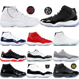 best value 8dac7 2d407 11 Basketball-Schuhe Gym Rot Platin Tönung Prom Night Concord 45 Space Jam  11s Bred Men Cap und Gown Sneakers US 5.5-13