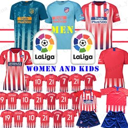 3cda08103 youth Madrid Atletico Soccer Jerseys Griezmann Correa Lucas 21 DIEGO COSTA  19 Koke 6 football shirt WOMEN men Kids Kits Jersey