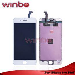 мобильный телефон с лезвиями Скидка Сборка цифрователя касания экрана LCD Winbotech Grade A +++ с заменой рамки для iPhone 6 iphone 6 plus