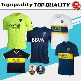 21a09ab3ffd thai quality Boca Junior Third Green 2018 2019 Argentine Super League  Soccer Jerseys 18 19 GAGO  5 CARDONA TEVEZ HOME AWAY football uniforms  black yellow ...