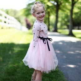 schulmädchen kostüm kinder Rabatt Dot Langarm Kleid Für Mädchen Kleidung Kinderkostüm Baby Mädchen Kleidung Teenager Schule Täglichen Verschleiß Schärpen Kinder Lässige Kleidung