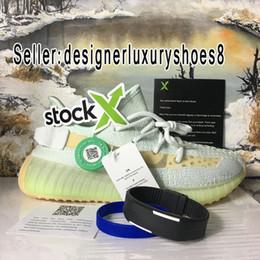 Designer shoes adidas yeezy boost 350 V2 men women Con Stock X 2019 nero statico riflettente pizzo non riflettente da uomo argilla argilla super spazio Forma Ture luminoso scarpe da