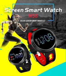 Canada Écran couleur sport Montre intelligente avec IP68 Étanche à la fréquence cardiaque Contrôle statistiques de mouvement Écran tactile 0,96 pouce Offre
