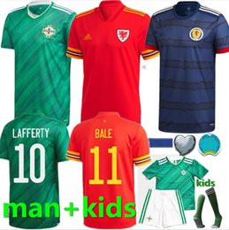 2020 camisas de gales 2020 2021 Irlanda do Norte Futebol EVANS LEWIS SAVILLE DAVIS WHYTE Lafferty homem + crianças Scotland Wales jérsei de futebol camisas de futebol camisas de gales barato