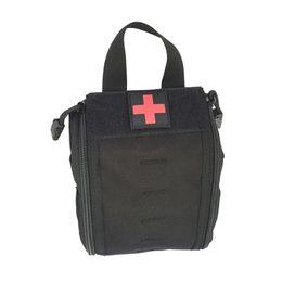 Bolsos de engranaje táctico molle online-Caza al aire libre EDC Utility Belt Bag Tactical Molle Medical Kit Pouch Survival Gear Gear Bag First Aid Kit Pouch # 359483