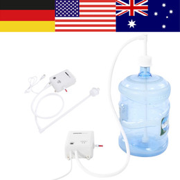 water fountains pump Promo Codes - Automatic Electric Water Pump Fountain Bottled Gallon Drinking Bottle Water Dispensing Pump System EU US AU Plug