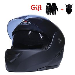 motorcycle helmets full face flip up Promo Codes - Motorcycle Helmet Modular Double Lens Offroad Motorcoss Full Face Helmet Racing Flip Up Unisex Dual-Use Casque Moto S-XL