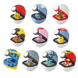 2019 quebra-cabeça de diamante Pequenas partículas blocos de banda desenhada Figuras Presentes Diamante Bola Building Blocks Brinquedos de Natal Anime montagem do enigma blocos de construção 10 cores quebra-cabeça de diamante barato