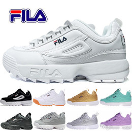 Scarpe da corsa di rosa delle signore online-Disruptors 2 Sawtooth Casual Dad Running Shoes For Men Donna Bianco Nero Pink Sneakers Raf Simons ozweego Big Sawtooth Ladies Scarpa sportiva