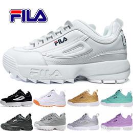 Chaussures de course dames rose en Ligne-Disruptors 2 Souliers de course en forme de papa pour hommes, femmes, blanc, noir, baskets roses, chaussures de sport Raf Simons