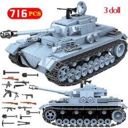 ladrillos juguetes ejército Rebajas Technik Military Bricks Sets Compatible Ww2 Tanque alemán Army City Soldier Police Arma Building Blocks Juguetes para niñosMX190820