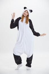 trajes kung fu panda Desconto Kung fu Panda Branco Unisex Pijama Dos Desenhos Animados Mangas Compridas Com Capuz Adultos Casa Desgaste Da Mascote Trajes de Desgaste Do Sono Desgaste Do Partido Noite Quente