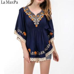 7e308603e85021 5xl Size Cotton Blouse Tunic Summer 2019 Fashion Casual Embroidery Blouses  Women Shirts Batwing Sleeve Crochet Lace Peplum Tops Y19043001