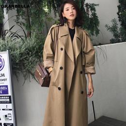 2020 Korean Style Long Sleeve Loose Female Hooded Long Coat Women Oversized Trench Coat Retro Frock Windbreaker From Sandlucy, $63.31 | DHgate.Com
