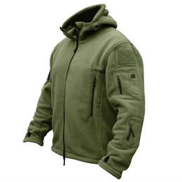 2020 casaco tático New Tactical exterior Soft Shell Velo Jacket Men Polartec Sportswear térmica caça esporte de caminhada Hoodie Casacos Casacos de inverno quentes desconto casaco tático