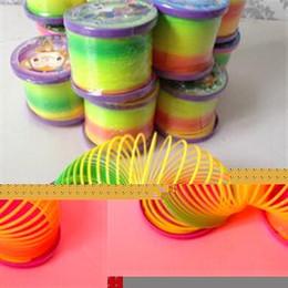 primavera arcobaleno slinky Sconti All'ingrosso-Alta qualità New Magic Slinky Rainbow Springs Rimbalzo Giocattolo per bambini Giocattolo per bambini Giocattolo Regali per bambini carini