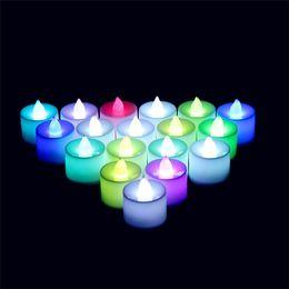 bougies sans flammes en ivoire Promotion LED thé lumières sans flamme votif bougies chauffe-plat bougie scintillement ampoule lumière petit électrique faux bougie réaliste anniversaire table de mariage cadeau