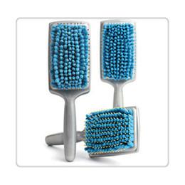 onda il commercio all'ingrosso magico pennello Sconti Pala in microfibra Districante Asciugatura Spazzole per capelli Pettine Capelli donna incinta Pettine rosa blu Alta qualità