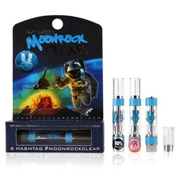 atomizador de agua de vidrio para la batería del ego Rebajas Cartuchos de Moonrock Clear Carts Moon Rock 1,0 ml Cartuchos de vaporizador G5 MT6 7 sabores pegatina envase de vape vacío embalaje Vape húmedo