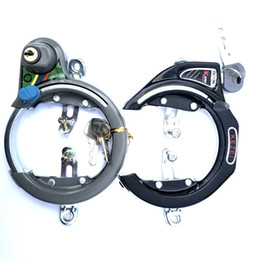 Piegatura di ferro online-Multicolor Horseshoe Lock Theft Prevention Facile da installare Bike Locks Solid Sicurezza Iron Riding Supplies Fold Hot Sale 4 7yj3I1